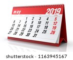 May 2019 Calendar. Isolated On...