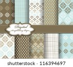 set of vector pattern paper for ... | Shutterstock .eps vector #116394697