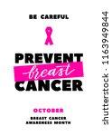 prevent breast cancer.... | Shutterstock .eps vector #1163949844