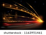 night city road lights | Shutterstock .eps vector #1163951461