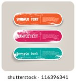 three vector grungy paper... | Shutterstock .eps vector #116396341