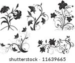 set of floral elements for... | Shutterstock .eps vector #11639665