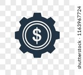settings vector icon isolated... | Shutterstock .eps vector #1163967724