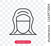 hijab veil vector icon isolated ...   Shutterstock .eps vector #1163973004
