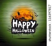 halloween night sign   Shutterstock .eps vector #116397817