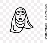 arab woman with hijab vector...   Shutterstock .eps vector #1163980021