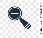 zoom out vector icon isolated...   Shutterstock .eps vector #1163980771