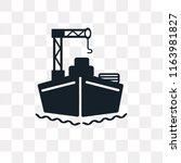 cargo ship vector icon isolated ... | Shutterstock .eps vector #1163981827