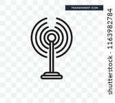 antenna vector icon isolated on ... | Shutterstock .eps vector #1163982784