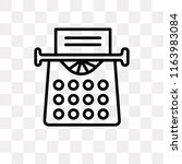 old typewriter vector icon... | Shutterstock .eps vector #1163983084