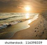 Golden Sunset On The Sea Shore...