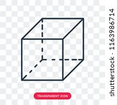 cube vector icon isolated on... | Shutterstock .eps vector #1163986714
