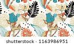 original trendy seamless... | Shutterstock .eps vector #1163986951