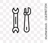 cross wrench vector icon... | Shutterstock .eps vector #1163987254