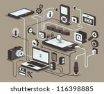 web and social media icons ... | Shutterstock .eps vector #116398885