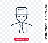 detective vector icon isolated... | Shutterstock .eps vector #1163989501