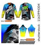 long sleeve motocross jerseys t ... | Shutterstock .eps vector #1163994304