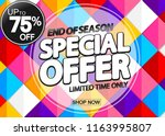 special offer  sale poster... | Shutterstock .eps vector #1163995807