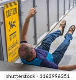 editorial use only  a man on... | Shutterstock . vector #1163996251