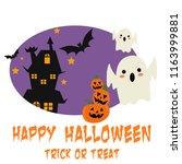 happy halloween party... | Shutterstock .eps vector #1163999881
