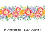 lovely seamless repeat border ... | Shutterstock . vector #1164000454