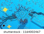electronic circuit board close... | Shutterstock . vector #1164002467