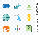 set of 9 transparent icons such ... | Shutterstock .eps vector #1164006034