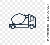 concrete mixer vector icon... | Shutterstock .eps vector #1164007324