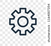 settings vector icon isolated... | Shutterstock .eps vector #1164007354
