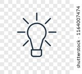 idea vector icon isolated on... | Shutterstock .eps vector #1164007474