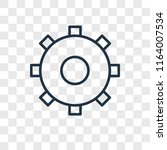 settings vector icon isolated... | Shutterstock .eps vector #1164007534