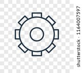 settings vector icon isolated... | Shutterstock .eps vector #1164007597
