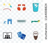 set of 9 transparent icons such ... | Shutterstock .eps vector #1164008824