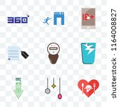 set of 9 transparent icons such ... | Shutterstock .eps vector #1164008827