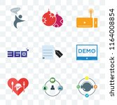 set of 9 transparent icons such ... | Shutterstock .eps vector #1164008854