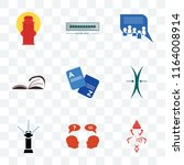 set of 9 transparent icons such ... | Shutterstock .eps vector #1164008914