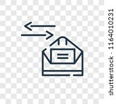 mailing vector icon isolated on ... | Shutterstock .eps vector #1164010231
