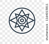 compass vector icon isolated on ... | Shutterstock .eps vector #1164015811