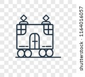 tram vector icon isolated on... | Shutterstock .eps vector #1164016057