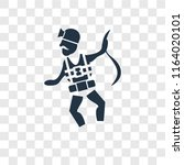 worker with harness vector icon ... | Shutterstock .eps vector #1164020101