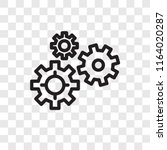 gears vector icon isolated on... | Shutterstock .eps vector #1164020287