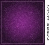Abstract Dark Purple Card With...