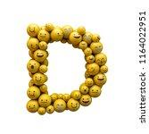 Letter D Emoji Character Font....