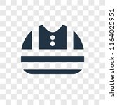 reflective vest vector icon... | Shutterstock .eps vector #1164025951