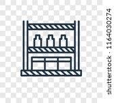 shelves vector icon isolated on ... | Shutterstock .eps vector #1164030274