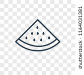 watermelon vector icon isolated ... | Shutterstock .eps vector #1164031381