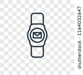 smartwatch vector icon isolated ... | Shutterstock .eps vector #1164032647