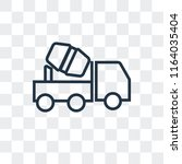concrete mixer vector icon... | Shutterstock .eps vector #1164035404