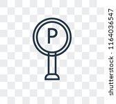 parking area vector icon... | Shutterstock .eps vector #1164036547