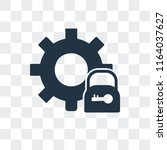 settings vector icon isolated... | Shutterstock .eps vector #1164037627